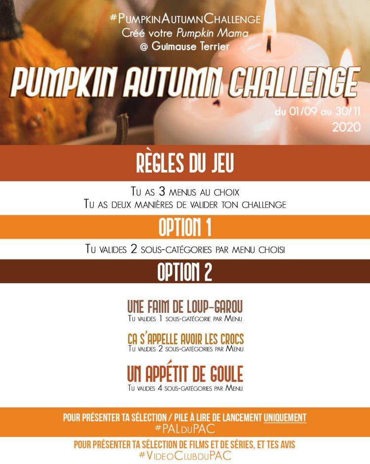 Pumpkin Autumn Challenge 2020 Celine Reads